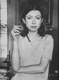 My literary hero, Joan Didion, in earlier days. (Photo courtesy of nndb.com)